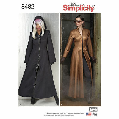 S8482 Simplicity Sewing Pattern Misses' The Matrix Costume Trench Coats Cosplay](The Matrix Costumes)