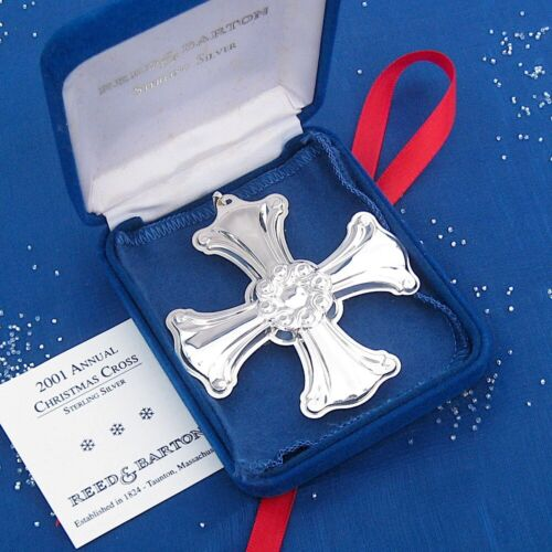 NEW • Reed & Barton 2001 CHRISTMAS CROSS Sterling Silver Ornament 31st Edition