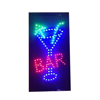Bar Pub Sign Neon Lights Led Animated Customers Attractive Sign Vertical 220v