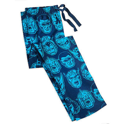 Disney Store Marvel Comics Super Hero Pajama Lounge Pants Mens Size S M (Super Hero Pants)