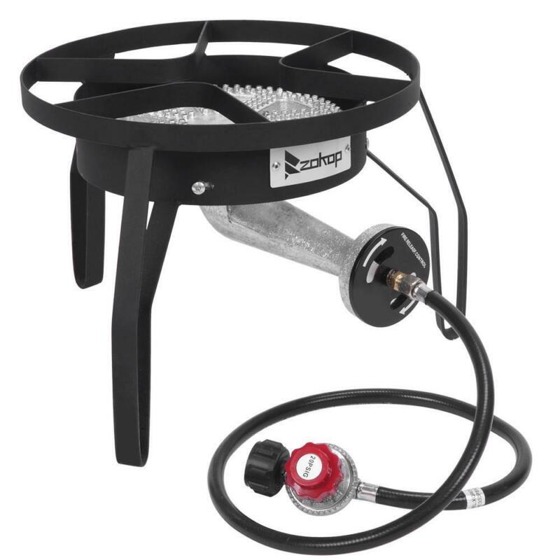 200000 BTU Outdoor Stove Propane Burner Gas Portable BBQ Grill Picnic Black Mini