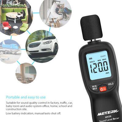Meterk Digital Sound Level Meter Volume Measuring Decibel Monitoring Tester L9s8