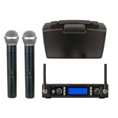 UHF Wreless Microphone System for Sennheiser Evolution Wireless  w Case 2 Mikes