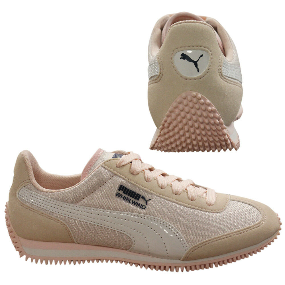 Details about Puma Whirlwind Mesh Lace Up Textile Girls Junior Trainers Pearl 357232 16 B85B
