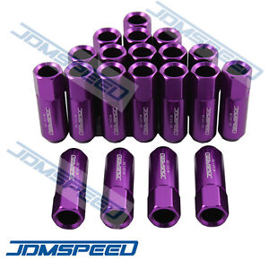 20 PCS M12X1.5MM PURPLE OPEN END EXTENDED ALUMINUM TUNER RACING WHEEL LUG NUTS