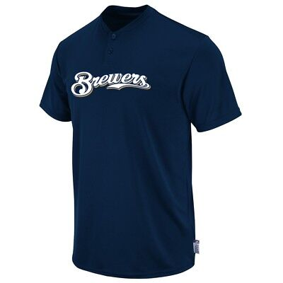 Milwaukee Brewers Boys Majestic Youth Cool Base 2 Button MLB Replica Jersey Brewers Youth Replica Jersey