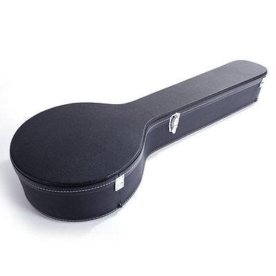 New High Quality 5-string Banjos Black Fine Leather Case Black