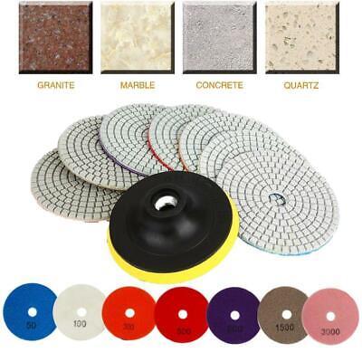 8pcs Diamond Polishing Pads 4 Inch Wetdry Set For Granite Stone Concrete