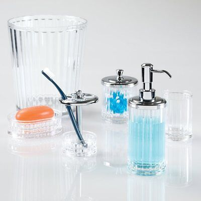 NEW InterDesign Alston Clear Acrylic Bath Accessories
