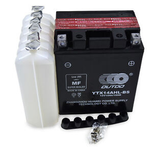 YTX14AHL-BS YB14L-A2 12N14-3A Motorcycle Battery Honda 750cc CB750 F C K SC 12V