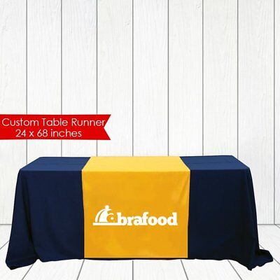 Trade Show Table Runner Custom Logo Table Runner For Event Craft Fair 24x72