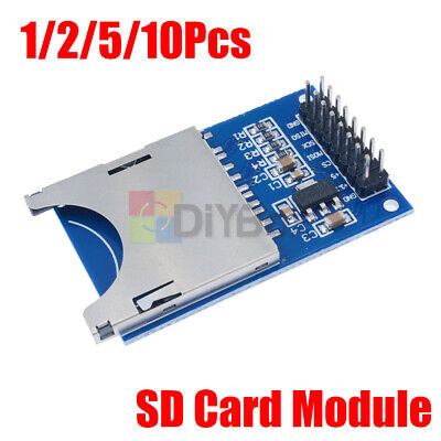 1-10pcs Sd Card Module Slot Socket Reader Fit For Arduino Arm Mcu Read And Write