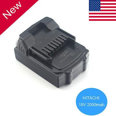 18V 2.0Ah Li-Ion Battery for Hitachi BSL1815X BSL1815 BSL1830  330139 US