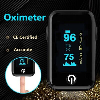 Pulse Oximeter Fingertip Blood Oxygen Spo2 Monitor Pr Pi Heart Rate Ce Us