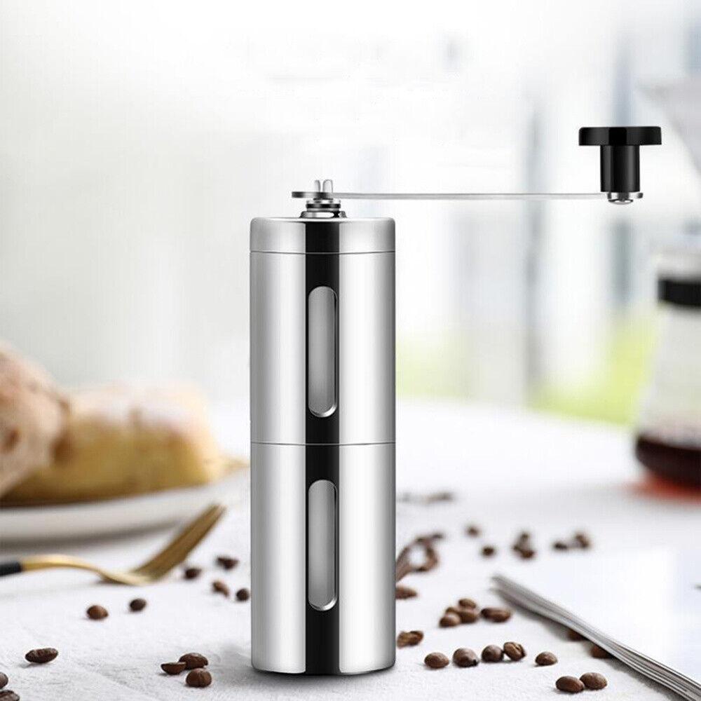 Edelstahl Kaffeemühle Handkaffeemühle Handmühle Keramikmahlwerk Kaffee Mühle DE