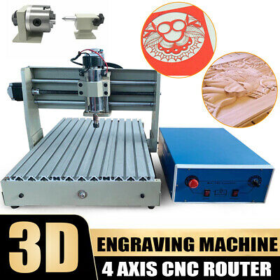 Usb 4 Axis Cnc 3040 Router Engraver Wood Carver Drilling Milling Machine 400w Ce