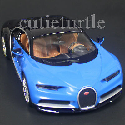 Maisto Bugatti Chiron 1 24 Diecast Model Toy Car 31514 Blue   Black