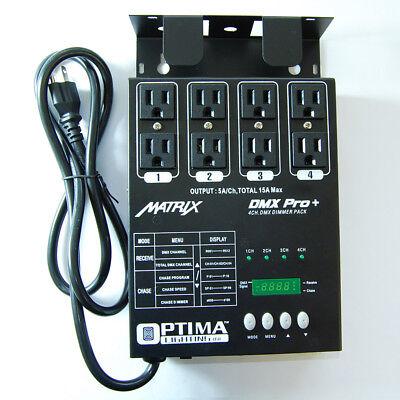 American 4 channel Matrix PRO DJ dimmer pack DMX output dmx-4 4 ch