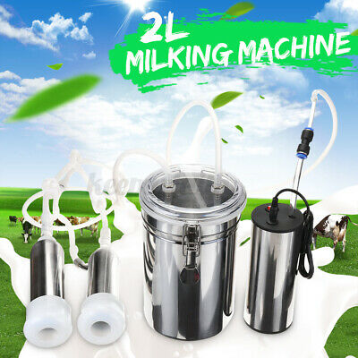 2l Electric Milking Machine Cow Goat Milker Stainless Steel Tank Upgraded