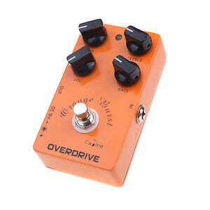 Overdrive Guitar Effects Pedal True bypass Design Caline CP-18 Orange