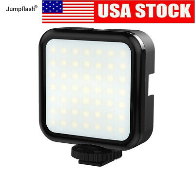 Jumpflash On Camera 49 LED Video Light Rechargeable For DSLR Camera Tripod Video