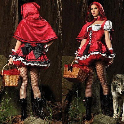 Sexy Little Red Riding Hood (Little Red Riding Hood Fancy Masquerade Sexy Womens Dress Costume Costume)