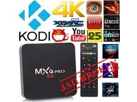4k MXQ Pro Android 5.1Smart TV Box Quad Core S905 KODI free sport,movies,with pulse build