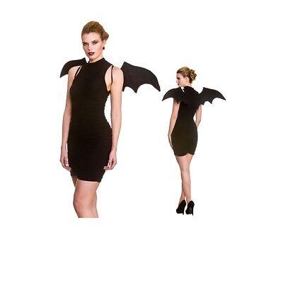 Schwarz Fledermausflügel Ärmel Bat Girl Erwachsene Halloween Kostüm - Fledermaus Flügel Kostüm Zubehör