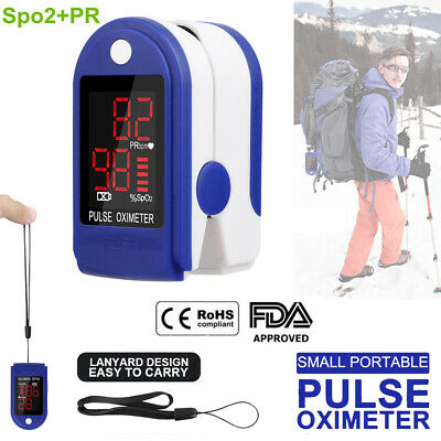Pulse Oximeter Blood Oxygen Saturation Fingertip Spo2 Heart Rate Monitor Fda