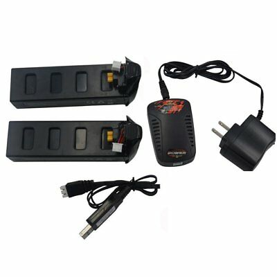 Blomiky New 2 Pack 7.4V 1800mAh 25c Li-poly Battery and Balance Charger for MJX