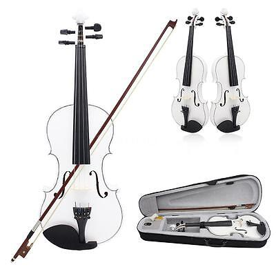 New Beginners Full Size 4/4 Acoustic Violin Fiddle with Case Bow New Z3W3