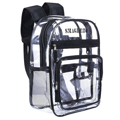 2018 NEW Clear PVC Transparent Multi-pockets School Bag Security Backpack - Clear Backpack