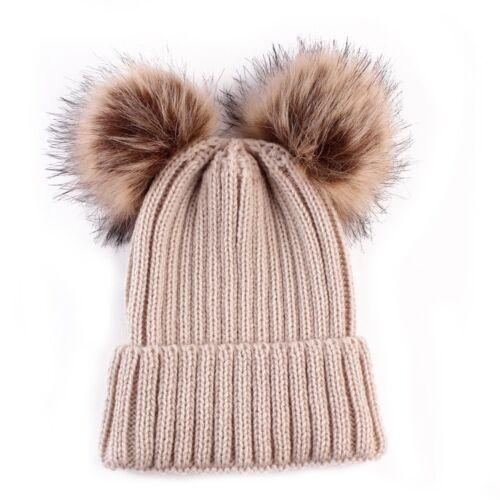 Cute Toddler Kids GirlBoy Baby Winter Warm Crochet Knit Hat Beanie Cap  Scarf