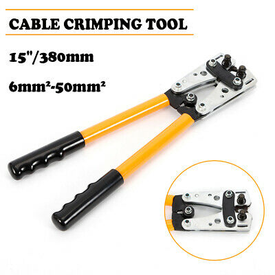 6 - 50 Mm Cable Crimper Wire Crimping Tool Electric Tube Lug Hex Pvc Handle