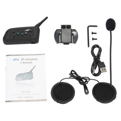 BT Bluetooth Motorrad Helm Interphone Intercom Headset V6 1200M 6 Fahrer M4L4 Interphone Bluetooth-headset