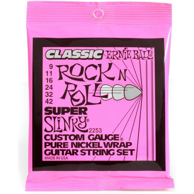 Ernie Ball 2253 Super Slinky Pure Nickel Electric Guitar Strings 9-42