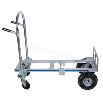 51 Height 2 In 1 Foldable Aluminum Hand Truckdolly Utility Cart-heavy Duty