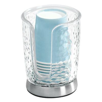 InterDesign Rain Disposable Paper Cup Dispenser for Bathroom Countertops,