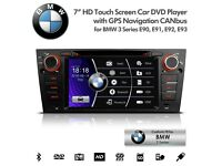 7 inch Car DVD Player GPS Radio USB SD AUX Bluetooth Stereo For BMW E90 E91 E92 E93 3 Series