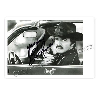 Burt Reynolds (1936–2018) Autogrammfotokarte laminiert / autograph [AK7]