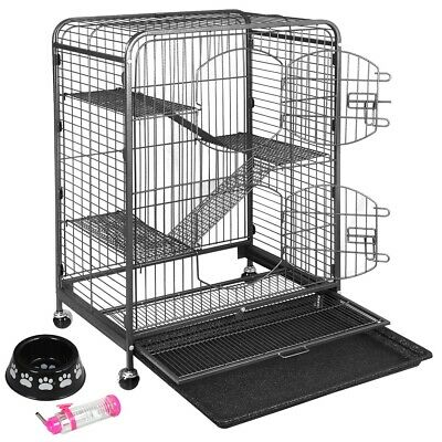 Durable Ferret Cage Rabbit Chinchilla Rat Cage Small Animal Play House 37""