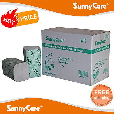 4000cs White Single Fold Paper Hand Towels 250pk 16pkscase C M N Big Size