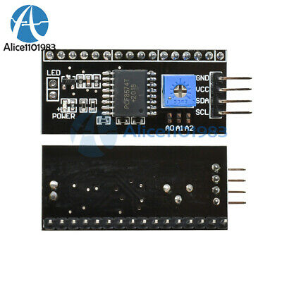 Iic I2c Adapter Serial Interface Board Module Arduino 1602 2004 Lcd Display