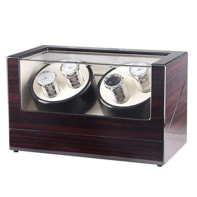 Automatic Watch Winder Self Winding Wood Box Luxury Case Jewelry Storage Box USA