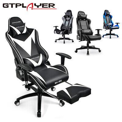 Leder Computer Schreibtisch Stuhl (GTPLAYER Gaming Stuhl Bürostuhl Computerstuhl Schreibtischstuhl Racing Stuhl)