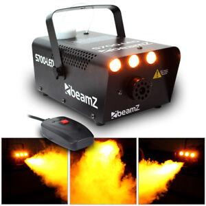 Smoke Machine Fog Mist Effect Christmas DJ Party Disco Coloured LED Flame 700W