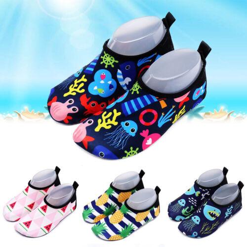 Kinder Wasserschuhe Badeschuhe Neoprenschuhe Aquaschuhe Strand Schwimm Schuhe DE