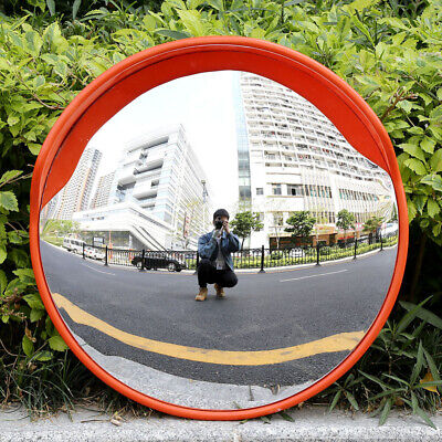 """24""""Wide Angle Security Convex PC Mirror Outdoor Road Traffic Driveway Safety USA"""