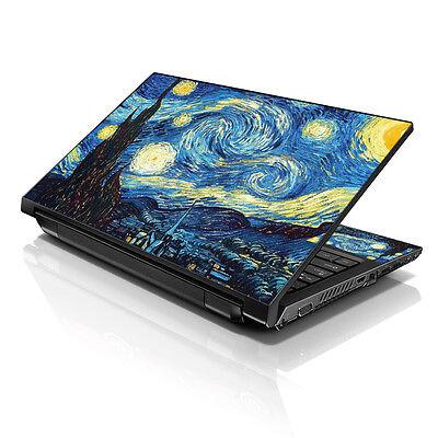 "13.3"" 15.6"" 16"" Laptop Skin Sticker Notebook Decal Starry Night M-19994"
