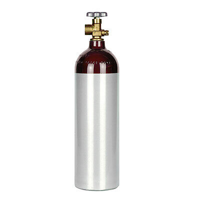 Helium 22 Cu Ft Aluminum Cylinder Tank - Cga580 Valve - Balloons Industrial New